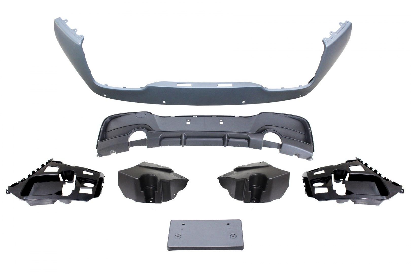 Zderzak tylny BMW F20 F21 11- M PERFORMANCE Style (2 Pojedyńcze końcówki) - GRUBYGARAGE - Sklep Tuningowy